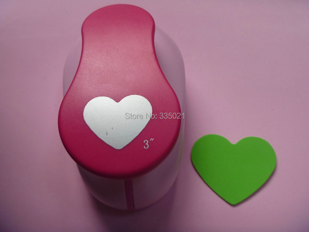 "free shipping 3""(7.6cm) heart shape EVA foam punch DIY punch craft punch for greeting card handmade ,Scrapbook Handmade puncher"