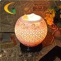 Аутентичные затемнения подарок на день рождения Утюг анион Гималаи кристалла соли лампа настольная лампа Глаз лампа