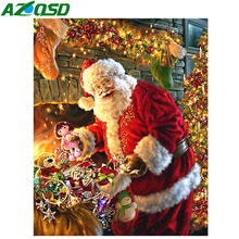 AZQSD Diamond Painting Christmas Mosaic Full Display Embroidery Santa Rhinestones Pictures Diy 5d Handmade