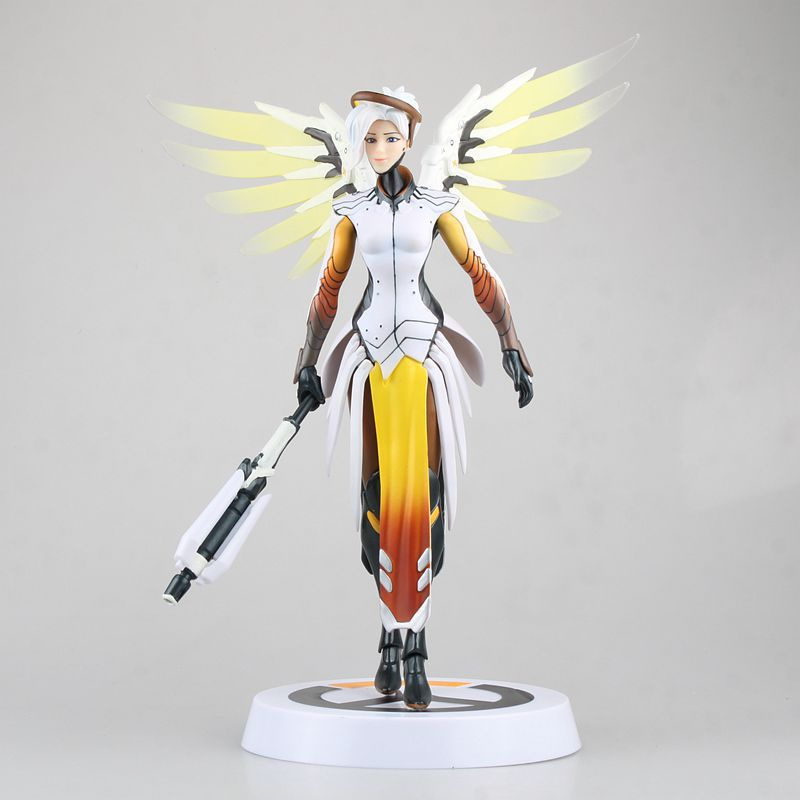 Huong Game Figure 30CM MERCY PVC Action Figure Gift Collectible Model Toys Doll all characters tracer reaper widowmaker action figure ow game keychain pendant key accessories ltx1