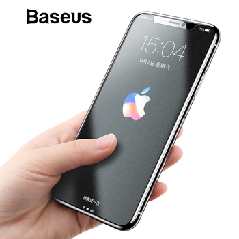 Baseus Matte Screen Protector For iPhone X Tempered Glass 0.25mm Ultra Thin Anti Fingerprint Protective Glass For iPhone X Film