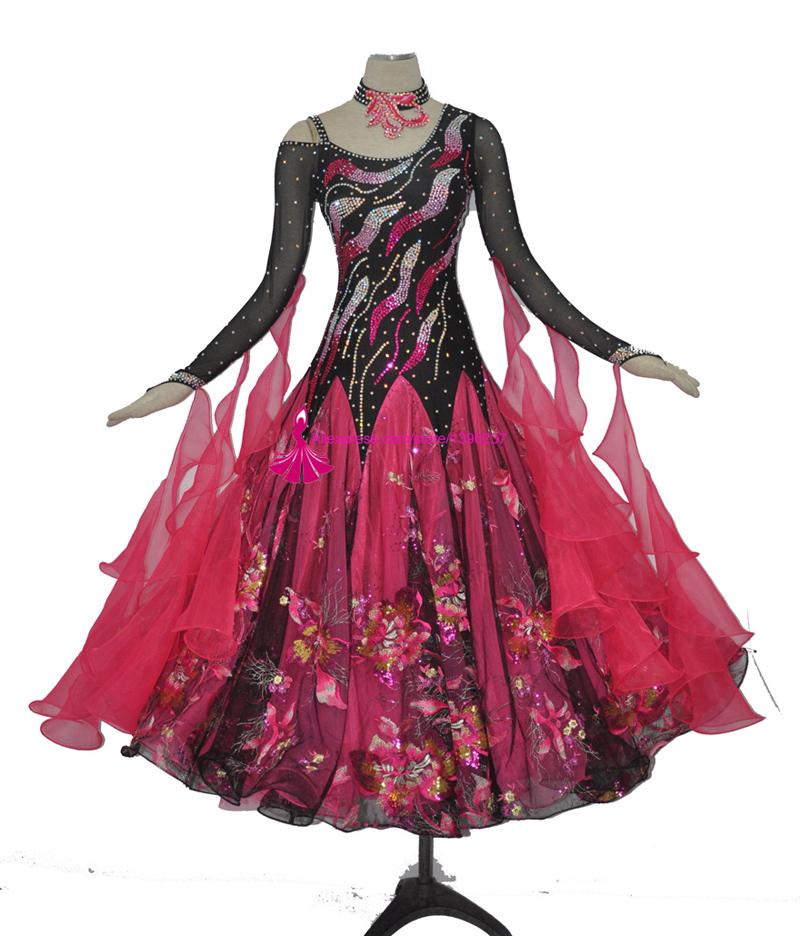 Ballroom Dancing Dress For Women High Quality Costume Adult Modern Flamenco Waltz Competition Dresses
