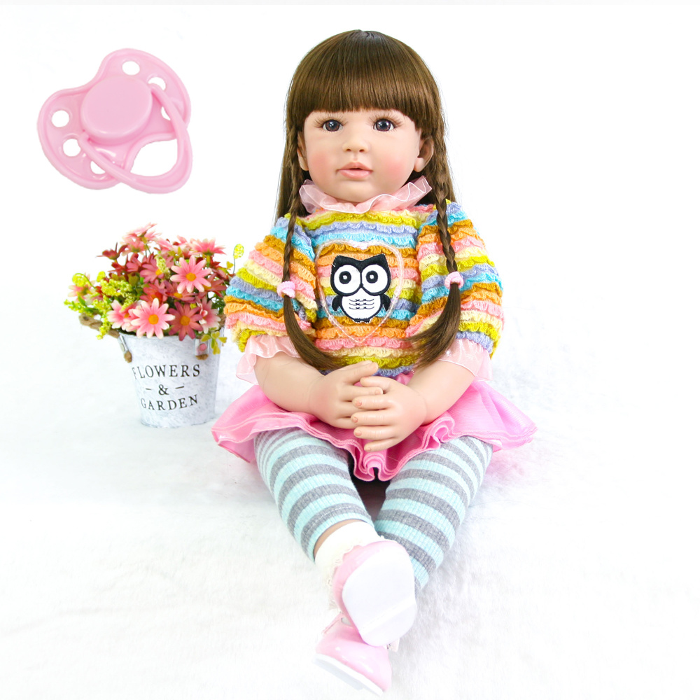 60cm Silicone Reborn Baby Doll Toys Like Real 24inch Vinyl Exquisite Princess Toddler Alive Bebe Girl Boneca Accompanying Doll60cm Silicone Reborn Baby Doll Toys Like Real 24inch Vinyl Exquisite Princess Toddler Alive Bebe Girl Boneca Accompanying Doll