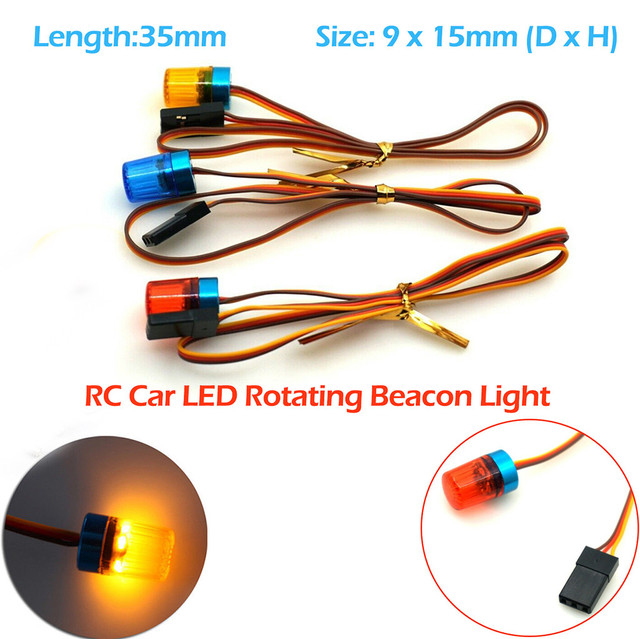 RC Mobil LED Rotating Beacon Light Berkedip untuk Truk Crawler Model Mainan Aksesoris Polisi Baru Beacon Light Derajat Rotasi Demo a503