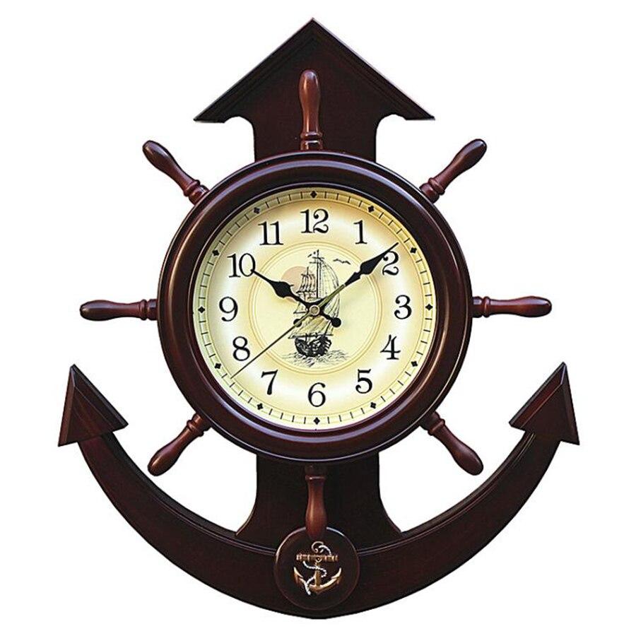 Voilier Vintage horloge murale Design moderne silencieux 3D horloge mécanisme décor à la maison grand miroir dent Reloj De Pared horloges 3DBGV68