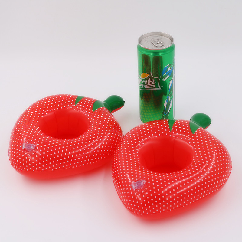 Strawberry Cup Holder Inflatable drink floats Strawberry Cup Seat Inflatable Strawberry Pool Party swim drink floats Cup Holder