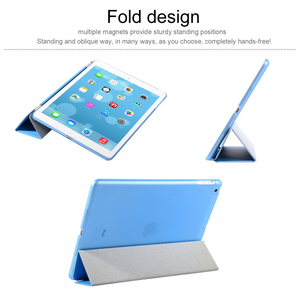 For iPad Air 1 Case Cover with Stand, Ultra Thin PU Leather+Silicone Soft Back Smart Case for iPad Air Auto Sleep + Three Gift