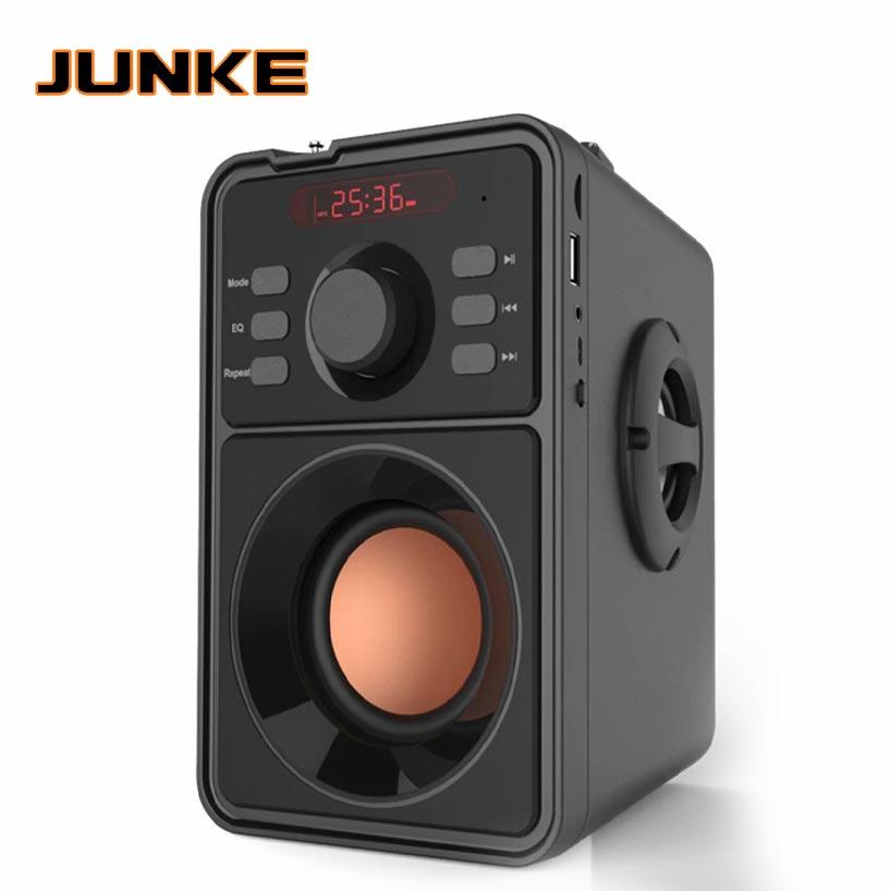 JUNKE 2.1 Portable Bluetooth haut-parleur sans fil stéréo caisson de basse haut-parleurs lourds lecteur de musique Support LED affichage FM Radio TF