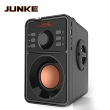 Junke caixa de som portátil, alto falante, portátil, bluetooth, stereo, subwoofer, graves pesados, suporta som com display led, rádio fm