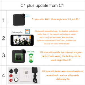 Image 2 - C1 Plus Camcorder Mini Camera 140 Wide Angle HD 720P Wifi P2P IP Voice Motion Sensor Micro DV Sport Car Bike Body Magnetic Clip