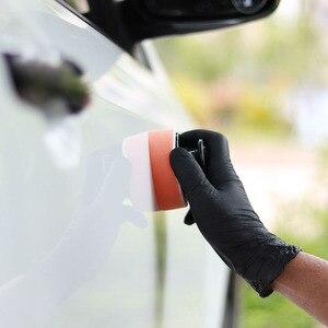 Image 5 - Aplikator wosku Pad pielęgnacja samochodu produkty akcesoria gąbka z uchwytem 6.5*6.5*4cm Auto Detailing Tools