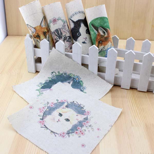 Gato de dibujos animados DIY fieltro tela de algodón muñecas de tela ...