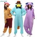 2017 высокое качество пижамы устанавливает флис животных пижамы onesies Единорог Динозавров зима С Капюшоном пижамы для женщин домашней одежды