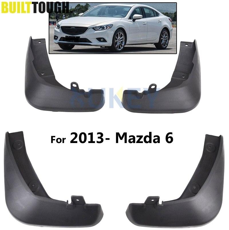 4Pcs OE Styled Car Mud Flaps For Mazda 6 (GJ) Atenza 2013-2017 Mudflaps Splash Guards Mud Flap Mudguards Fender 2014 2015 2016