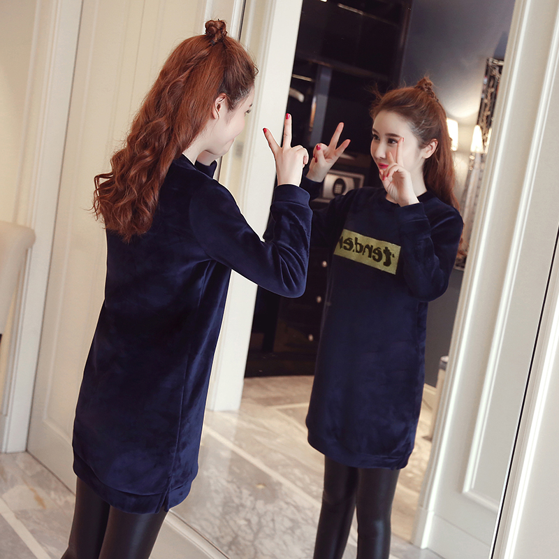 Velvet Maternity Hoodie Shirts Loose Nursing Clothes Tops for Pregnant Breastfeeding T Shirt Winter Warm Pregnancy Clothing C526