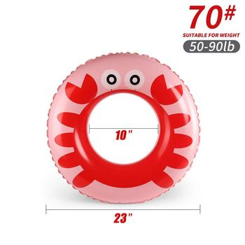 Cartoon baby accessories kids penguin float swimming ring durable children summer swim pool accessories circle floating - K5004-70