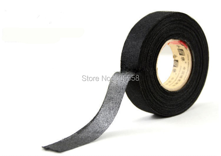 online buy whole wire sticker from wire sticker shipping black linen adhesive fabric cloth wiring loom harness insulating tape 19mmx15m
