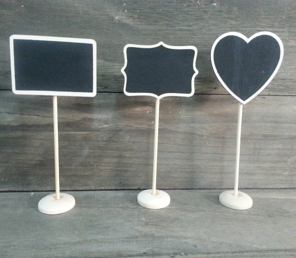 Mixed Shape Black board for flower pot of Garden ,name tag, price tag board