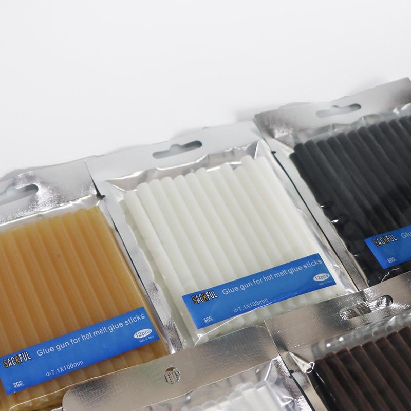 Läbimõõt 7X100mm, piimjasvalge kuuma sulatatud liimipulgad 7mm - Elektrilised tööriistad - Foto 4