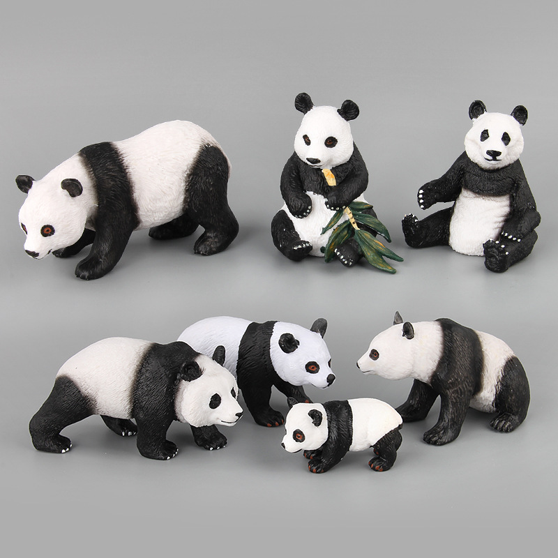 Figure Model Collectible-Doll Animal Action--Toys Cute Panda PVC for Kid Children Gift