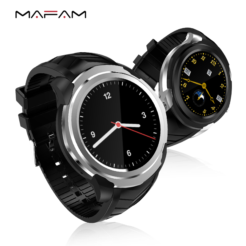 MAFAM C1 Heart Rate Monitoring Sports Pedometer Altitude Bluetooth Songs Live Weather Voice Control GPS SIM-Card Smart Watch