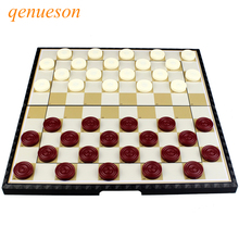 High quality international checkers portable plastic chess set folding magnetic board game children gift qenueson