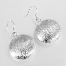 Hot sale High Quality 925 Sterling Silver Earrings Plating Cymbals Ear Earrings Girls Fashion Earring Anti-Allergic Gift