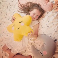 Stars Cloud Cushion Plush Stuffed Toy Moon Pillow Doll for Kid Baby Bedroom Decoration Children Gift
