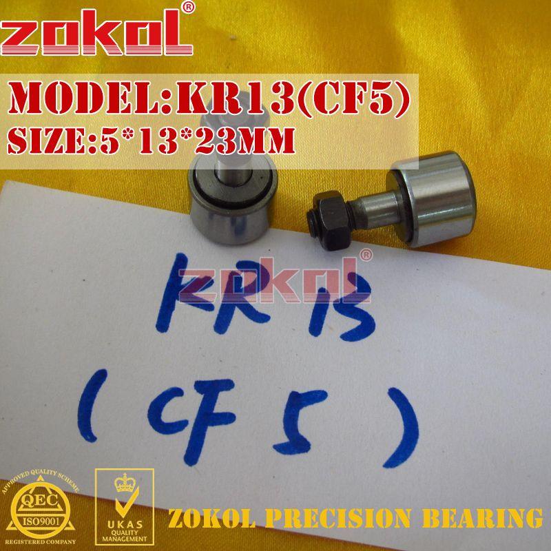 ZOKOL Bearing KR13 KR16 CF5 CF6 Stud Type Track Roller (rolling) Bearing 5*13*23 M5*0.8 6*16*28.2 M6*1