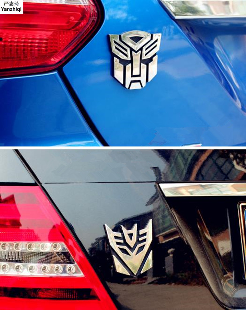 YANZHIQI ABS 3d Car Sticker Transformers For Car Auto Logo Window Tail Car Body