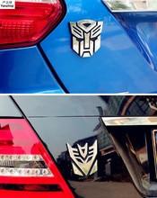 ABS  3d Car Sticker Transformers For Car Auto Logo Window Tail Car Body Decoration Car Styling