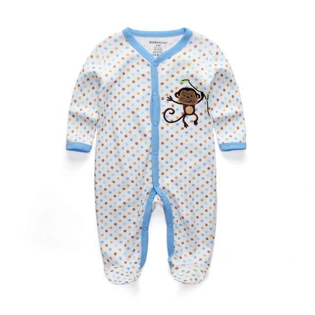 Милый детский комбинезон удобная одежда для новорожденных 0-9 м одежда для малышей, новорожденных одежда для малышей - Цвет: boy monkey