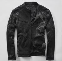 NEW 2017 Young Men S Leather Fur Leather Sheep Skin Short Leather Jacket Spring And Autumn