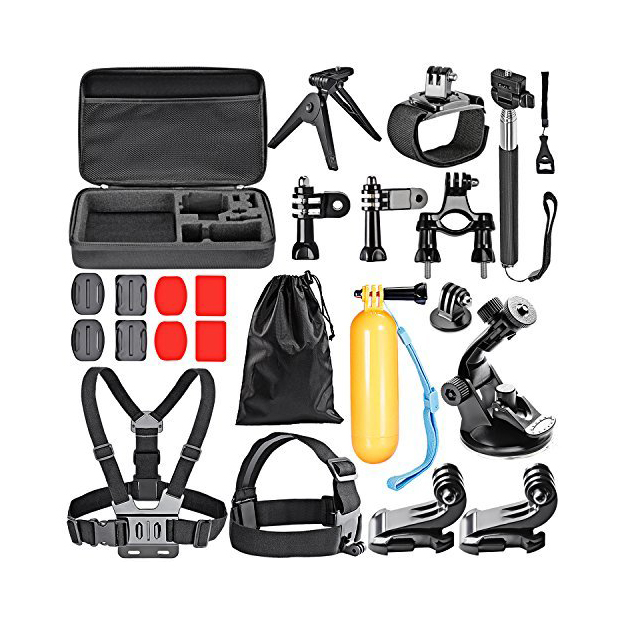 CES-24-in-1 Sport Accessory Kit for GoPro Hero4 Session Hero Series for Xiaomi Yi in Skiing Climbing Bike Camping Diving and CES