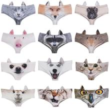 LEIMOLIS pig cat dog fox Animal funny print sexy ear panties female kawaii Lovely underwear push up briefs women lingerie thongs