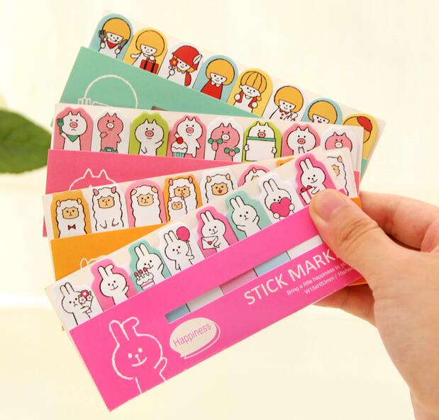 30pcs/lot cute 680 series holiday anmial style mini sticky note marker post it notepad memo office school supplies stationery