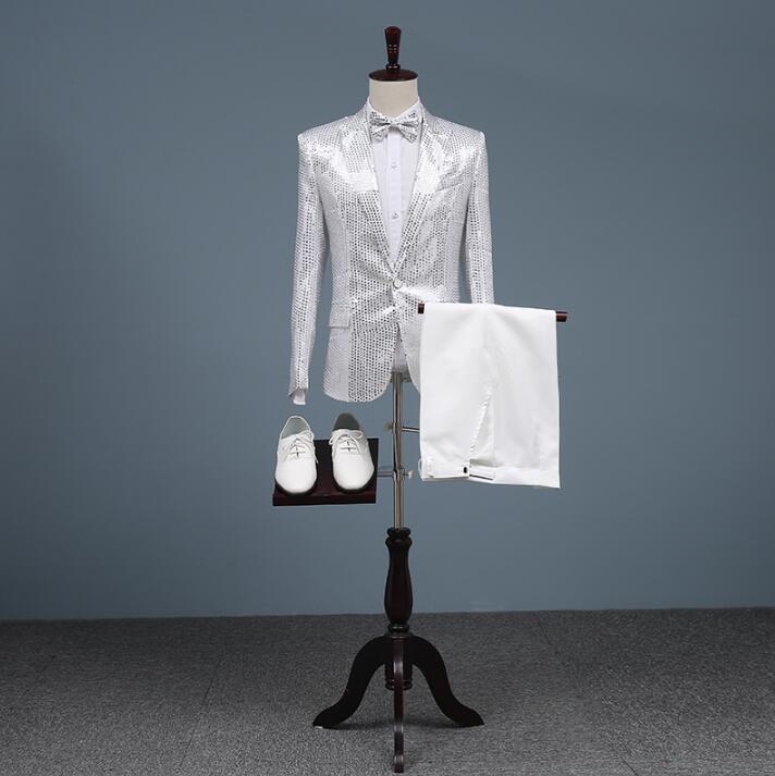 Argent Homme Conceptions Étoiles Style Chanteurs Veste De Blazer Costumes Sequin Terno Mode Danse Scène Robe Hommes Masculino rqwBrtX