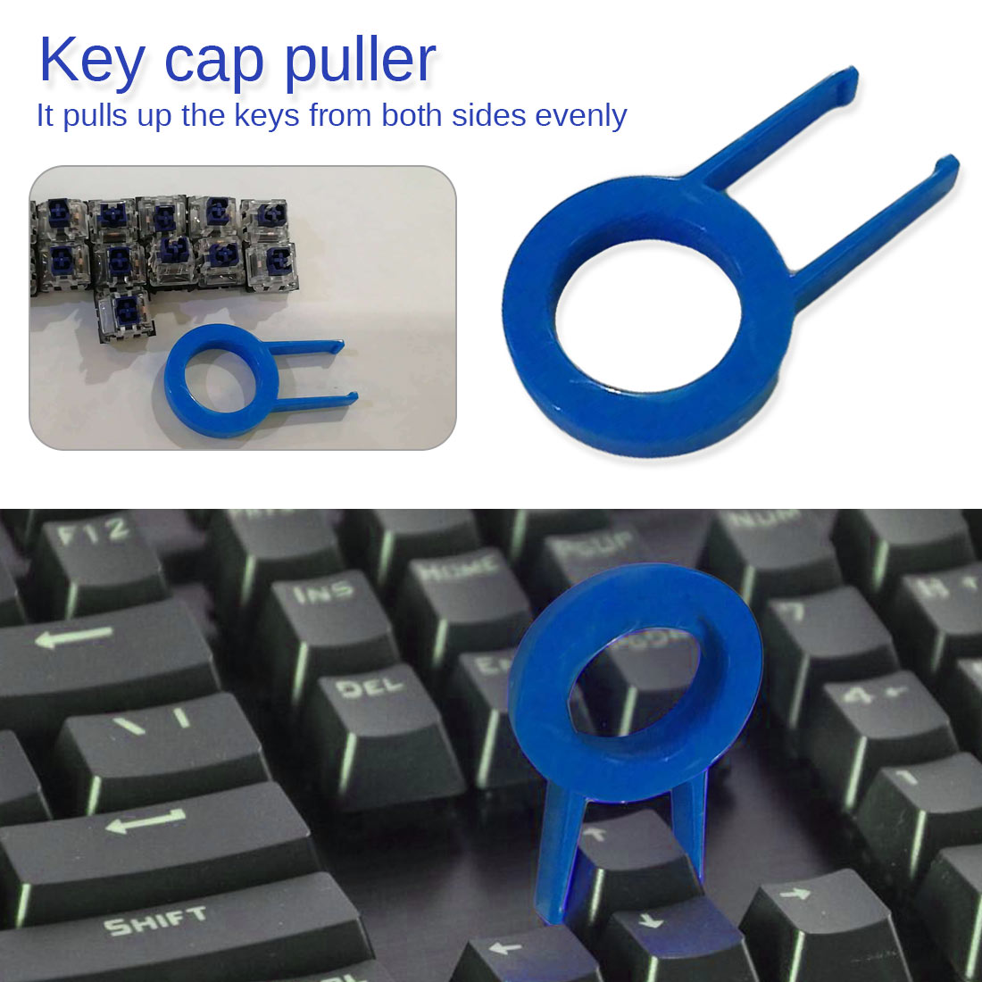 Drop Ship&Wholesale Mechanical Keyboard Keycap Puller Remover For Keyboards Key Cap Fixing Tool Random Color Black Or Blue