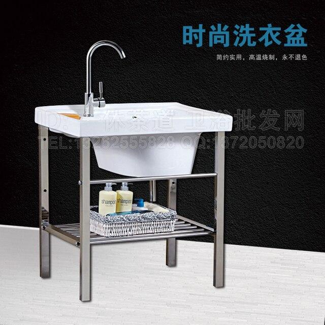 Ceramica balcone lavatoio con una lavanderia washboard idromassaggio o vasca lavanderia ultra deep lavabo bacino