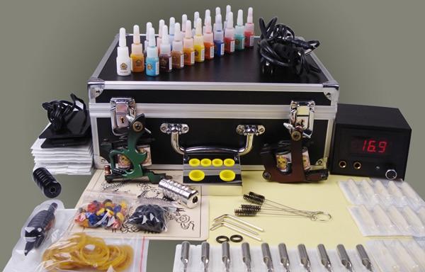 Us 12664 33 Offmakeup Machine Digital 2 Guns Complete Tattoo Machine Set Complete Body Piercing Kit Tattoo Tool Box In Tattoo Kits From Beauty