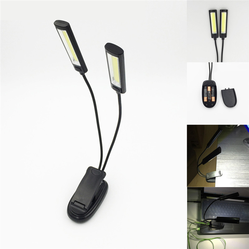 OOBest 1 шт. мини Гибкая USB Clip-On Яркий книга легкий ноутбук черный LED Настольная лампа супер яркий booklight