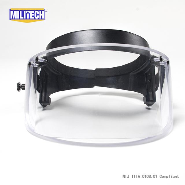 Escudo viseira para capacete PASGT ACH Bulletproof ballistic capacete RÁPIDO com Anel de correção/guarda viseira à prova de Bala/Máscara para Mich capacete