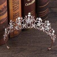 Красота Винтаж барокко Стразы невесты корона принцесса диадема свадебная диадема головной убор Свадебные аксессуары для волос ювелирные и...