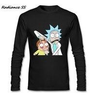 Cool T Shirt Men Novelty Rick And Morty Tee Shirts Graphic Long Sleeve Funny Adult Shirts