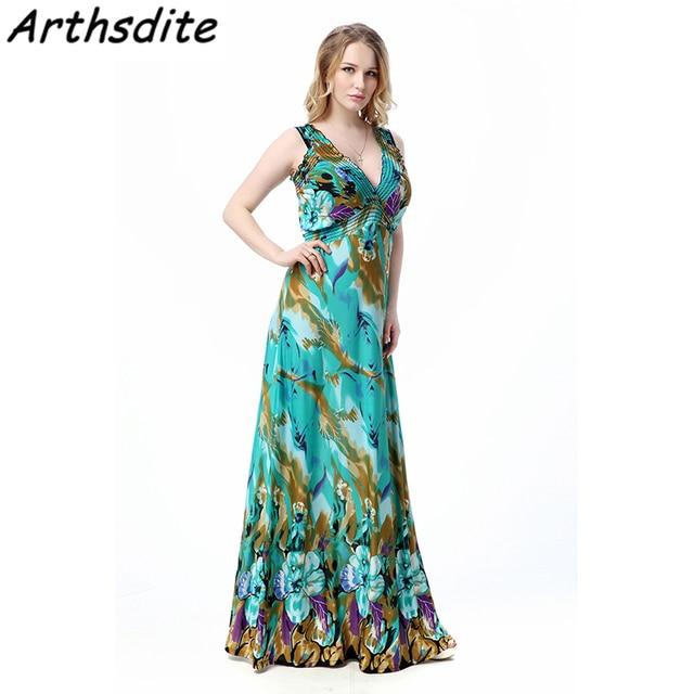 Arthsdite Big Size 6xl 7xl Summer Dress 2017 Vestido Casual Dresses