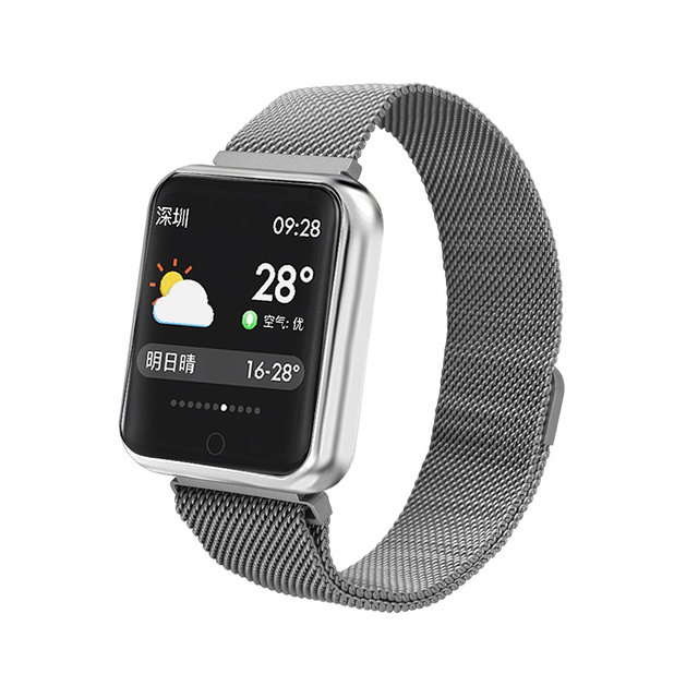 Smart Fitness Bracelet Watch Women Men IP68 Waterproof Multiple Sports Mode Heart Rate Monitor Smart Band For ISO Android