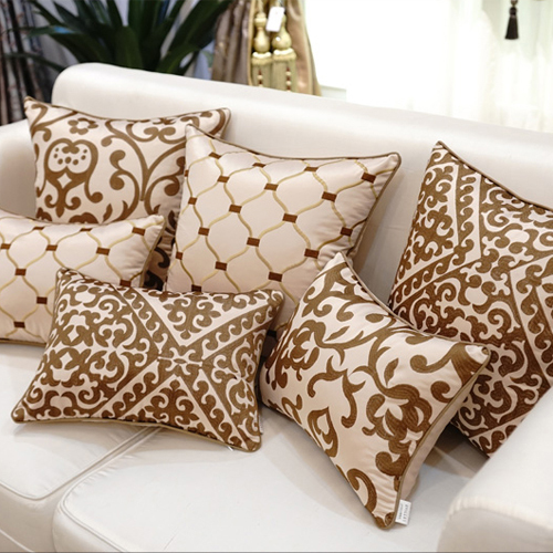 Europe Style Luxury Contracted Jacquard Chenille Fabric Decorative Pillowcase Pillow Case Throw Pillows Cover In From Home Garden On