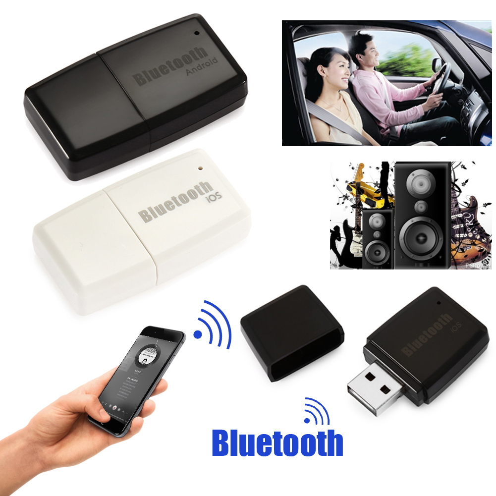 Wireless <font><b>Bluetooth</b></font> Audio <font><b>Adapter</b></font> V4.1+<font><b>EDR</b></font> A2DP 3.5mm USB Handsfree Home Car Kit AUX Audio Stereo Music Receiver Adaptor
