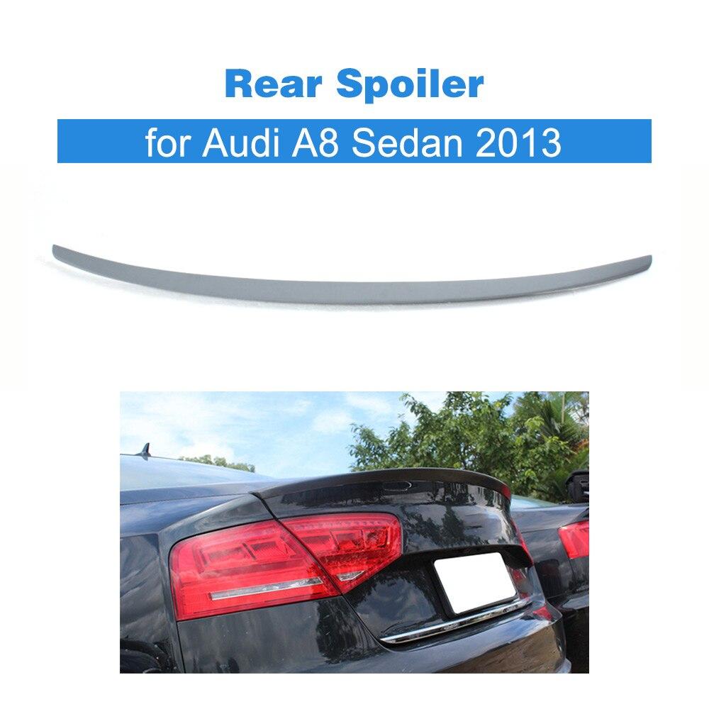 Задний спойлер для багажника из ПУ материала, крылья для багажника Audi A8 2013, задний спойлер для багажника