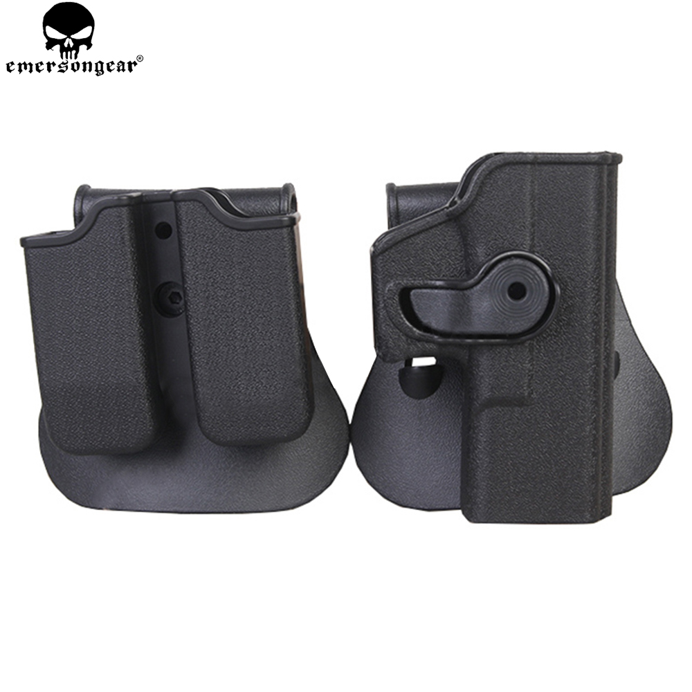 Holster para Glock Coldre de Arma de Mão Conjunto Transportadora Revista Rotary Emersongear 17 – 22 31 Plástico Pistola Coldre Caça Imi